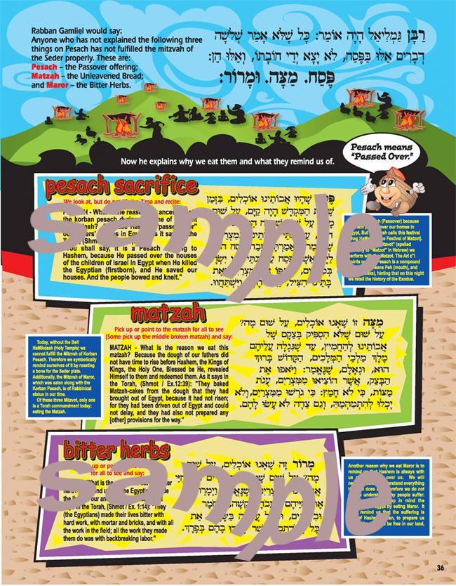 Torahtots Hagaddah Pesach Matzah Maror